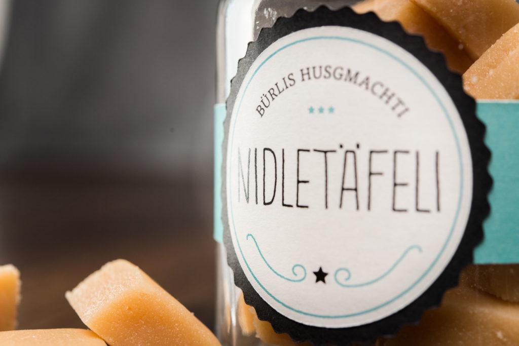 Nidletäfeli - Verpackungsgestaltung - Herr Bürli